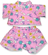 Pink PJ's Outfit Teddy Bear Clothes Fits Most 14