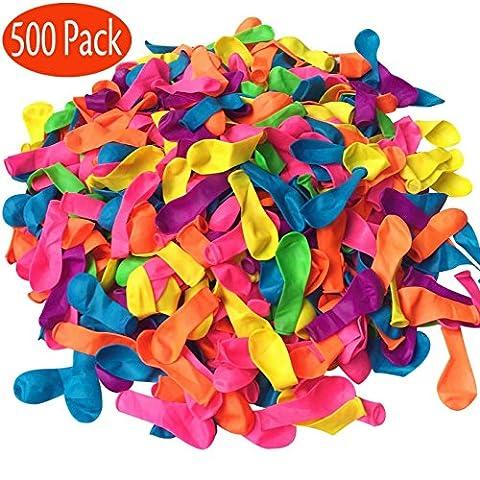 Sevenway 500PCS Magischer Wasser-Ballon-Nachfüll-Installationssatz, Ballon-Installationssatz Nachfüllen Sie Ihre alten Strohhalme in einem Jiffy, Geschenk für Jungen u. Mädchen im Freiensport wie Picnics, Pool-Parteien und (Pops Eimer)