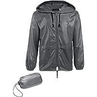 JINIDU Mens Rain Jacket Waterproof Lightweight Raincoats with Hood Packable Outdoor Rain Poncho