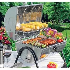 Barbecue-Tischgrill Edelstahl