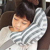 Auto Almohada viaje del cinturón de seguridad amortiguador de soporte de la cabeza de cabrito del niño el coche Proteja hombro almohada cojín amortiguador para proteger el hombro almohada de viaje ajustable para la cabeza de los niños