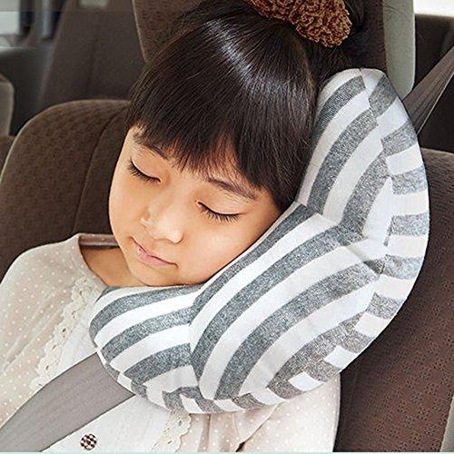 Molre-yan cuscino morbido child safety car cintura copricintura cover proteggere spalla cuscino, cuscino da viaggio per bambini regolabile testa supporto cervicale