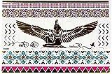 Yh051 - Fake Tattoo für den Körper - Arme - Knöchel - Handgelenk - Bein - Bein - Schulter - Rücken - Isis - Griechisch - Ägyptisch - Ethnisch - Ägyptisch - Symbole Ägypten - Tribal - Frau