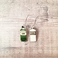 Gin and tonic - Gin earrings - Drop earrings - Gin jewellery - Gin gifts for women - Gin lover - Gin bottle - Quirky earrings - Gin lover gift