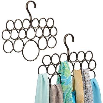 mDesign porte-foulard – rangement foulard pour écharpes et foulards – pack  de 2 – 54b49335b1a