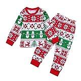 Elyseesen Chic Enfants tout-petits bébé garçon fille cerf t-shirt Tops pantalon Noël tenue vêtements ensemble (3 ans/100)