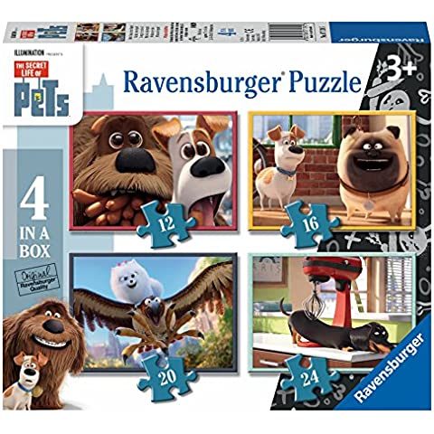 Ravensburger Italy 71395 - Pets 4 in a Box, Multicolore
