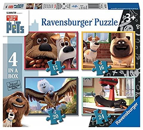 Ravensburger – Comme des Bêtes – 4 Puzzles en 1 – 12, 20, 30 et 36 Pièces