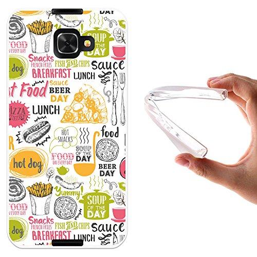 WoowCase Alcatel Idol 4S Hülle, Handyhülle Silikon für [ Alcatel Idol 4S ] Fastfood Handytasche Handy Cover Case Schutzhülle Flexible TPU - Transparent