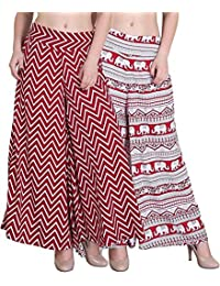 Shmayra Regular Fit Women's Multicolor Palazzo Pants For Womens With Inner & Pocket Trousers Combo (Pack Of 2)...