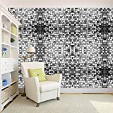 100yellow 3D Design Bricks Printed Peel And Stick Decor Self Adhesive Wallpaper - 26.7 Sqft