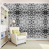 100yellow 3D Design Bricks Printed Peel And Stick Decor Self Adhesive Wallpaper - 26.7 Sqft