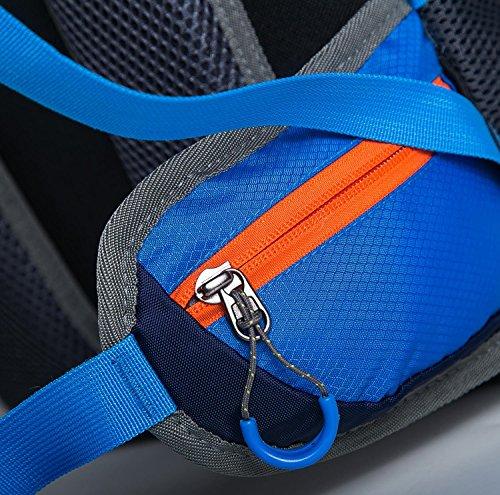 HWJF Zaino esterno multifunzionale dello zaino all'aperto di modo alpinista borsa a tracolla multifunzionale , black Red