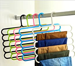 Home Buy,Multipurpose Hanger for Clothes (1 Pc)(Color May Vary)