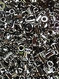 100 X Hülsenmutter M6 14x8x12mm Stahl vernickelt Flachkopf Typ RFL Offene Form Innensechskant SW 5 Typ RFL