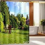 Park Landschaft Digitaldruck Wasserdicht Foto Duschvorhang, Breite 150cm * Höhe 180cm