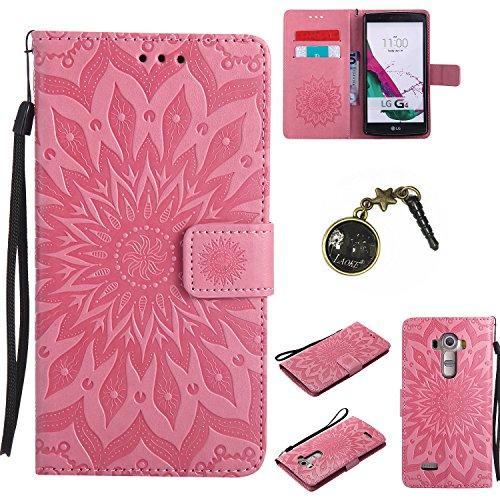 Preisvergleich Produktbild für LG G4 Hülle,Hochwertige Kunst-Leder-Hülle mit Magnetverschluss Flip Cover Tasche Leder [Kartenfächer] Schutzhülle Lederbrieftasche Executive Design +Staubstecker (8FF)