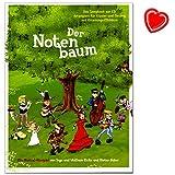 Der Notenbaum - Songbook für Klavier, Gesang, Gitarre von Eicke Wolfram und Faber Diete - Ein Hörspiel für Kinder mit bunter herzförmiger Notenklammer
