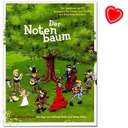 La note coton–SONGBOOK pour Piano, Chant, Guitare de Eicke tungstène et Faber Diete–Un hörspiel pour les enfants avec cœur Note colorée Pince