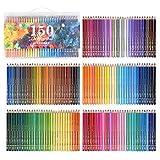 150 Aquarellstiften Helle und deutliche Farben und bereits angespitzte bunte Stifte Set für Erwachsene Malbücher Sketching oder Basteln