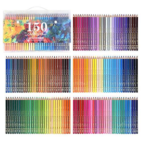 150/160professionelles Aquarell-Stift-Set, Kunstzubehör zum Färben, Zeichnen, Schattieren 150 colors