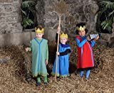 Betzold 58515 - Könige, 3er-Set - Kinder-Kostüm für Krippenspiel und Rollenspiel, Überziehkostüm