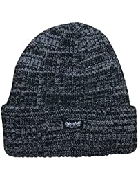 Unisex Marl Chunky knitted 3M Thermal Thinsulate Insulated beanie Hat, One size