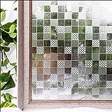 YQ WHJB 3D Fensterfolien-datenschutz,Keine-kleber Statische Dekorfolie,PVC Glas Sonnenschutz Badezimmer Balkon Wiederverwendbar Fenster-Aufkleber Aufkleber 90 * 100cm