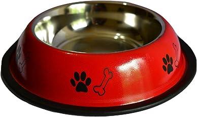 Foodie Puppies Stainless Steel Dog Food Bowl, Medium (FP_B210)