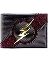 Cartera de DC Flash Relámpago de Oro Texturizado Negro