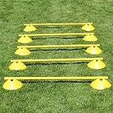 Mini-Hürden 5er Set, gelbe Markiermulden und gelbe Stangen 100 cm, für Agility-Training