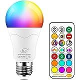 iLC Bombillas Colores RGBW 85W Equivalente LED Bombilla Regulable Cambio de Color Edison 12W E27 - RGB Control remoto Incluid