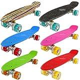 FunTomia® Mini-Board 57cm Skateboard mit oder ohne LED Leuchtrollen inkl.