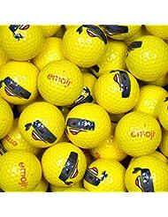 Emoji EMGBB005 Lot de 48 Balles de Golf Mixte Adulte, Blanc, N/A