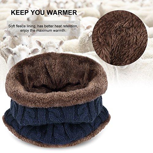 Cappello Uomo Invernali Beanie in Maglia con Sciarpa 6d85d45c3c94
