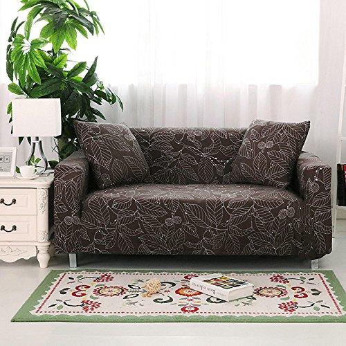Ssdlrsf copridivano per divano ad angolo con rivestimento in stoffa per stampa di fiori copridivano per divano ad angolo con copriletto in tessuto di spandex stretch (145-180 cm), colore 9, due posti