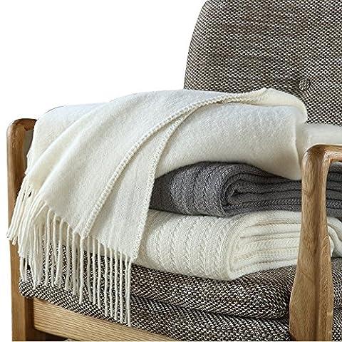 BDUK Hôtel 5 étoiles d'hiver épaisse couverture double-cliquez sur l'Australian Wool couvertures couvertures couvertures du bureau de la pause déjeuner pour le déjeuner