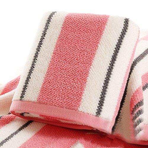 TOWEL LU Serviette de Bain Serviette absorbante Serviette de Coton Serviette Adulte Augmenter Épais Serviette Serviette de Bain Douce Serviette de Bain (Couleur : Rose)