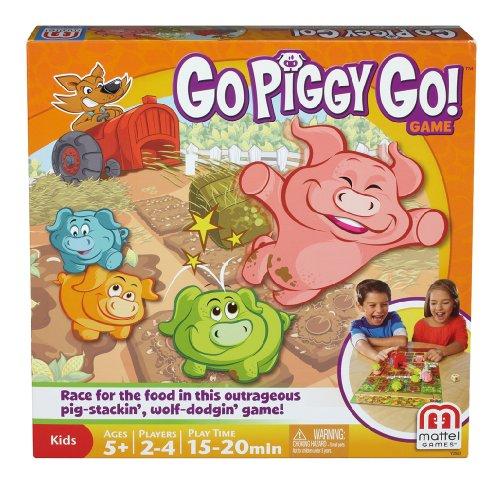 Mattel Y2552 - Lauf Schweinchen lauf, Strategiespiel für Kinder