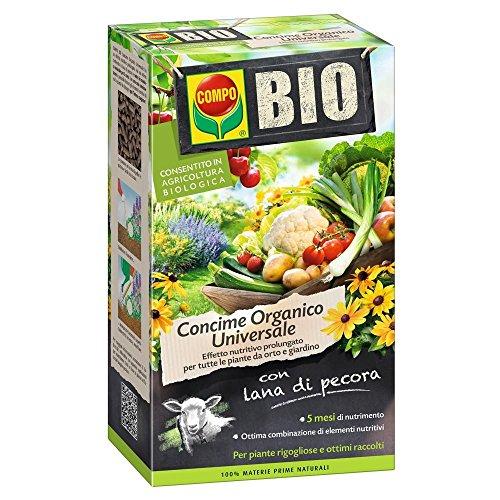 Bio Concime COMPO Con Lana di Pecora in Confezione da 2 KG
