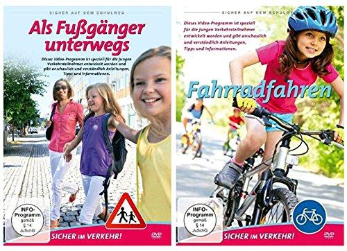 Sicher auf dem Schulweg [ Fußgänger und Fahrradfahren ] Kinder sicher im Verkehr [2 DVDs]