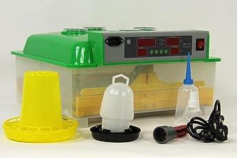 Brutmaschine BK48Pro + Tränke und Futterautomat, 48 Eier, Brutautomat Inkubator