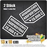 Verbindlicher Kaufvertrag 20.000 € 12,5 x 10 cm IN 15 FARBEN - Neon + Chrom! Sticker Aufkleber