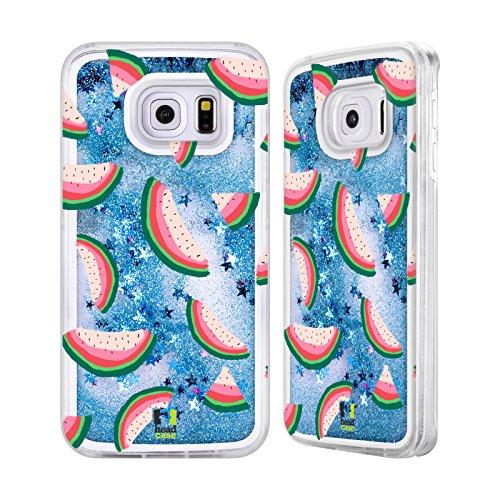Head Case Designs Modèle Homogène Estampes De Pastèque Étui Coque Liquide Scintillez Bleu Ciel pour Apple iPhone 5c Modèle Homogène