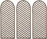 SET OF 3 WILLOW TRELLIS CURVED GARDMAN 07522AT
