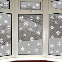 42 Original Snowflake Window Clings by Articlings - Fabulous Static PVC Stickers