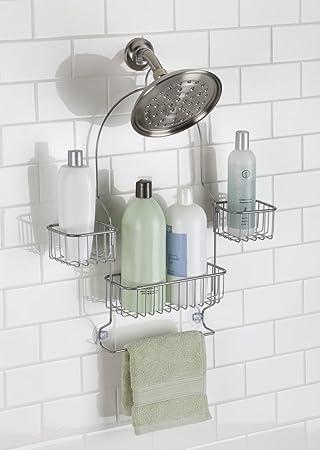 mdesign duschablage zum hngen praktisches duschregal ohne bohren zu montieren duschkrbe zum hngen aus metall fr smtliches duschzubehr - Duschzubehor Zum Hangen