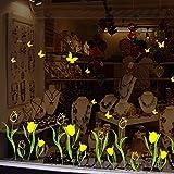 Soggiorno camera bagno Compra vetrofanie ed erba farfalla fiore,A, s