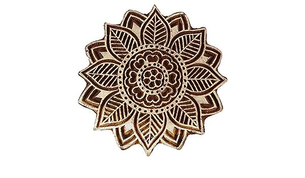 Knitwit Wooden Textile Briefmarken Indian Dekorative Bl/öcke Brown Owl-Briefmarken f/ür Lehm