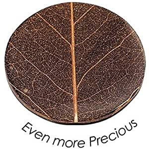 Quoins QMNK-M-BL-BR Münze Platte Even more precious medium braun Bambusblatt